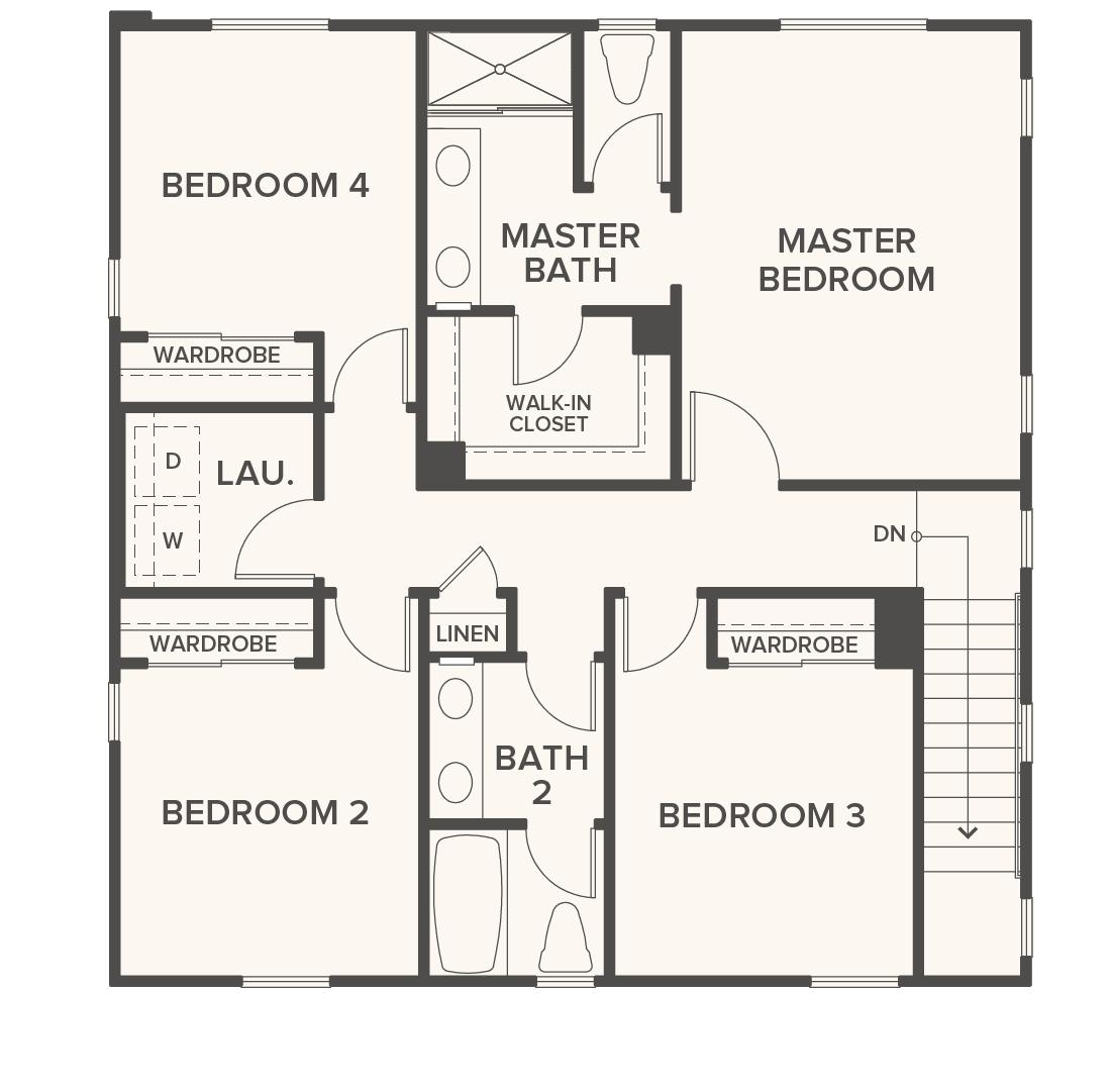 3 Bedroom 285m2 Floor Plan Only: New Homes Los Angeles